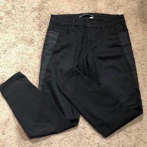 Black Joe's Jeans wit Leather Detail